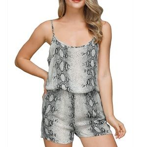 SNAKESKIN ROMPER WOMENS super cute